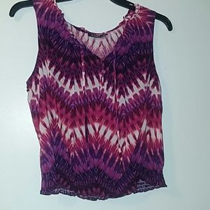 Cute purple and white print tank
